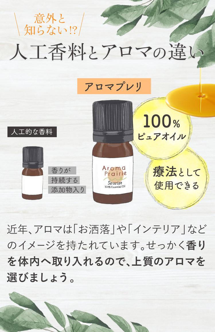 人工香料とアロマの違い
