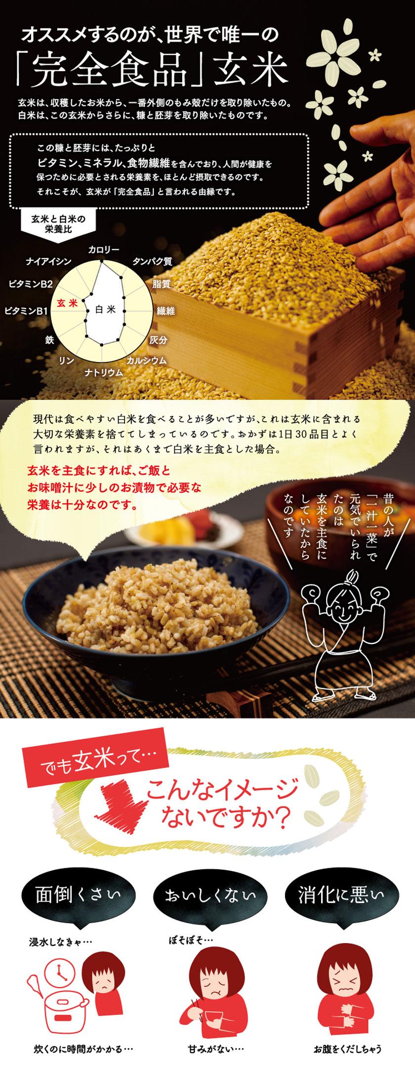 オススメするのが、世界で唯一の完全食品玄米