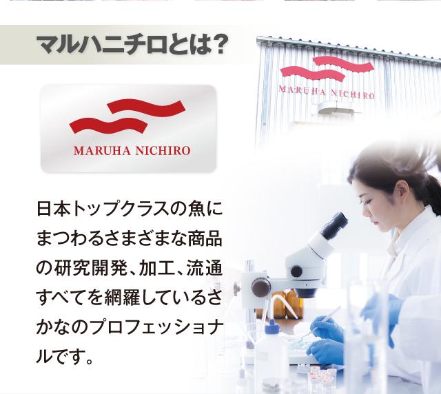 マルハニチロとは?日本のトップクラスの魚にまつわるさまざまな商品の研究開発、加工、流通すべてを網羅しているさかなのプロフェッショナルです。