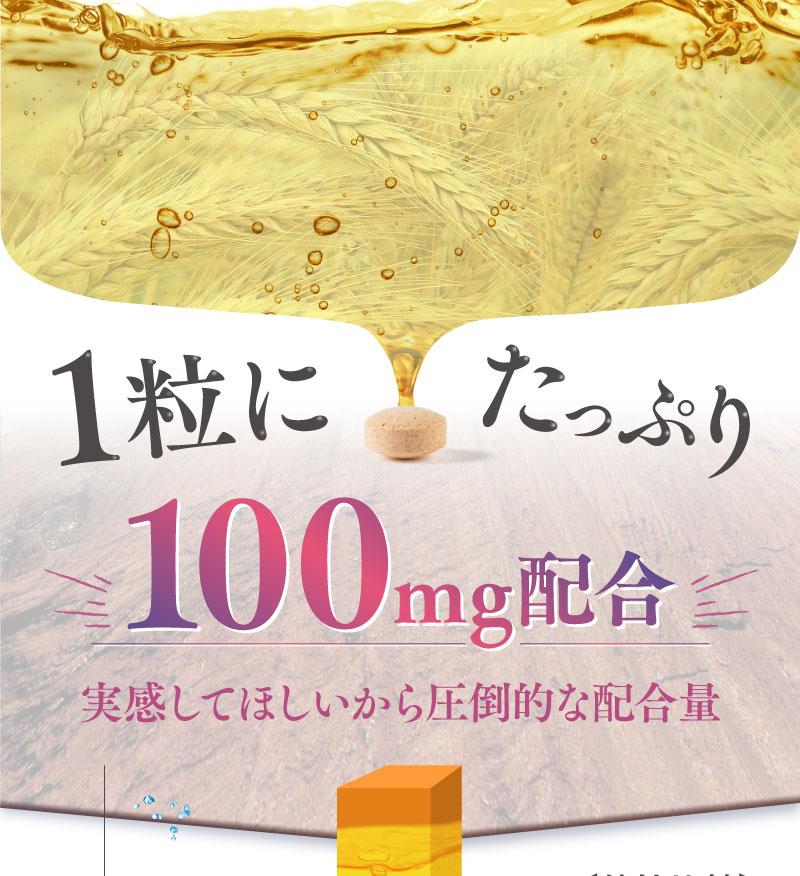 大麦乳酸発酵液GABAを1粒にたっぷり100mg配合