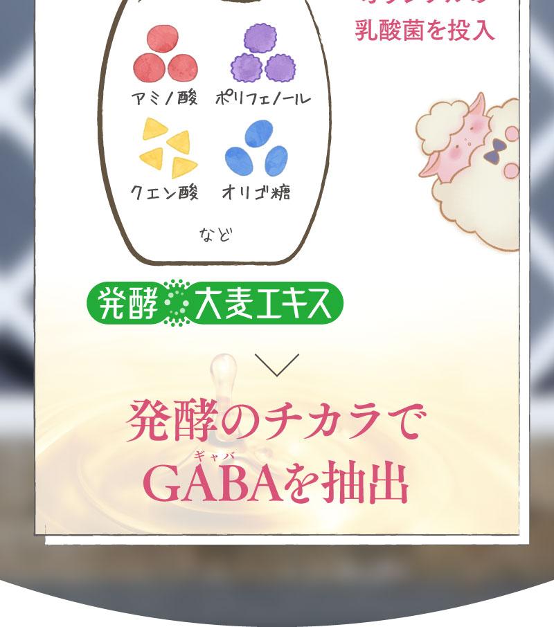 発酵のチカラでGABAを抽出