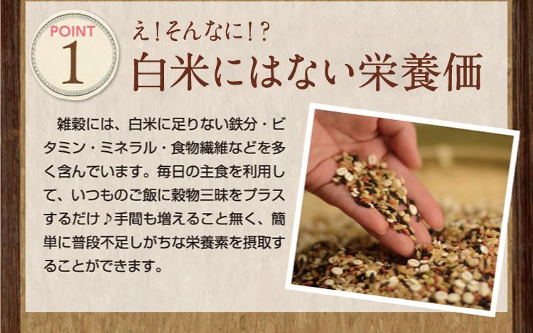 白米に足りない栄養価