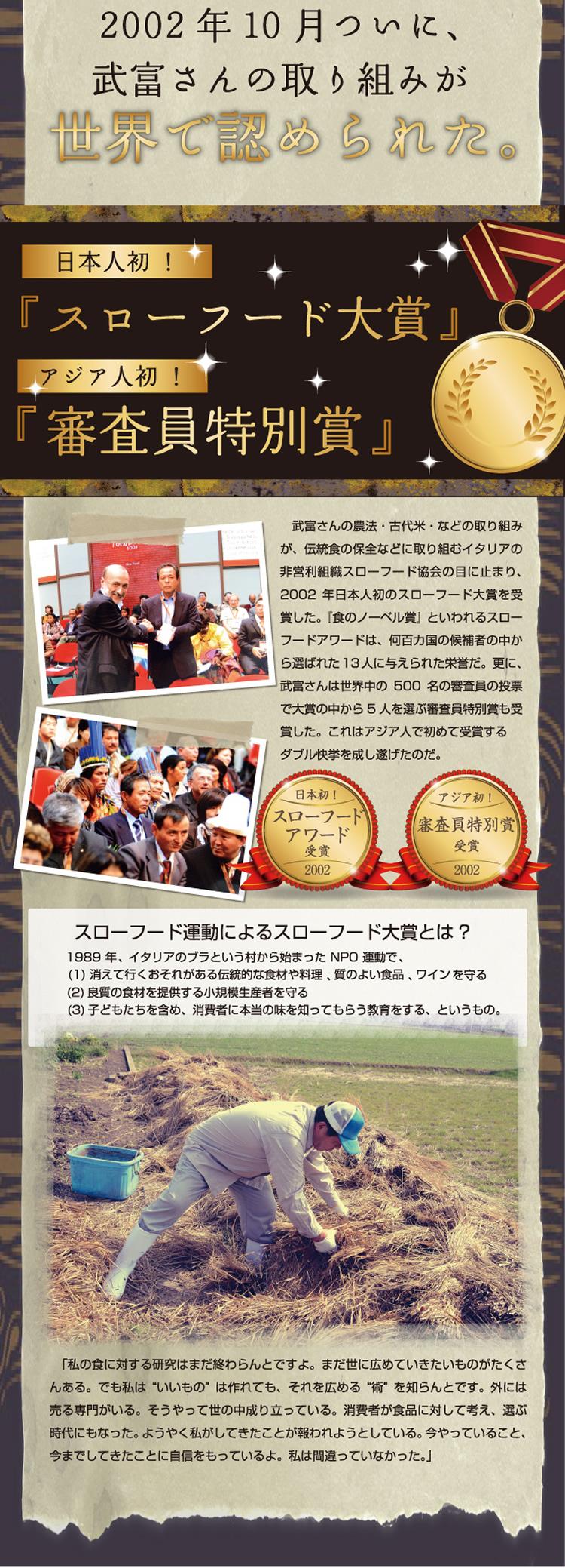 2002年10月ついに武富さんの取り組みが世界で認められた。