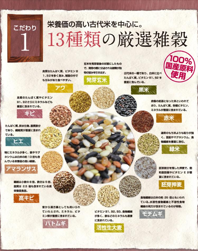 13種の厳選雑穀